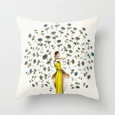 Paris Summer | The Flower Girl Throw Pillow
