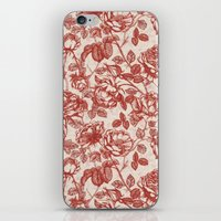 Toile de jouy (Roses) iPhone & iPod Skin