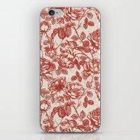 Toile De Jouy (Roses) iPhone & iPod Skin