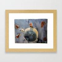Lunar dust Framed Art Print