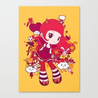 Kawaii Canvas Print