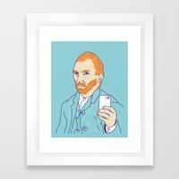 Van Selfie Framed Art Print