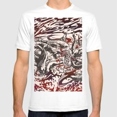 Koi Whirlpool White SMALL Mens Fitted Tee