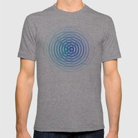 SoundWaves Teal/Indigo Mens Fitted Tee Tri-Grey SMALL