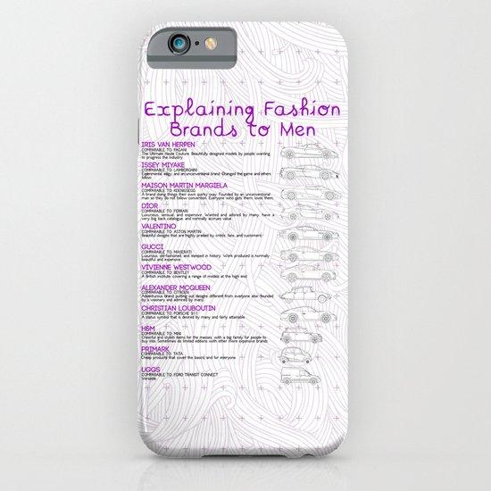 Explaining Fashion To Men iPhone & iPod Case