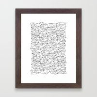 Geometric Wire Framed Art Print