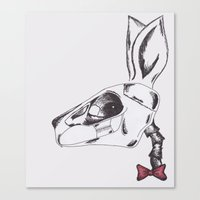 francine the rabbit queen. Canvas Print