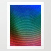 Rainbow Circles Art Print