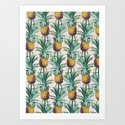 Pineapple Trellis Art Print