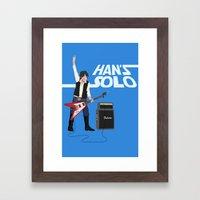Han's Solo Framed Art Print