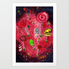 Candy Wonderland. Art Print