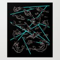 Sharks with friken lazers on their heads Art Print