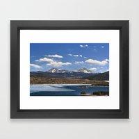 Dillon Reservoir is Thawing Framed Art Print