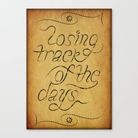 Losing track of the days Canvas Print