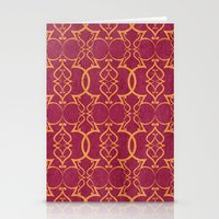 Gold Trellis Stationery Cards