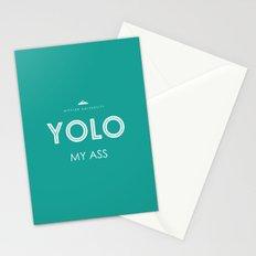 YOLO MY ASS Stationery Cards
