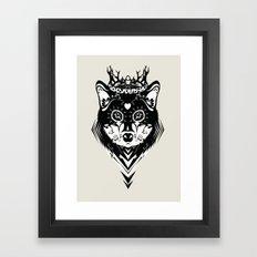 King of Wolf Framed Art Print