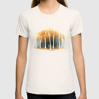Autumn Wolf Womens Fitted Tee Natural SMALL