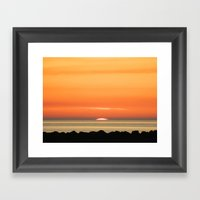 Scottish Sunset Framed Art Print