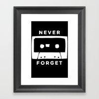 H&S: Cassette Framed Art Print