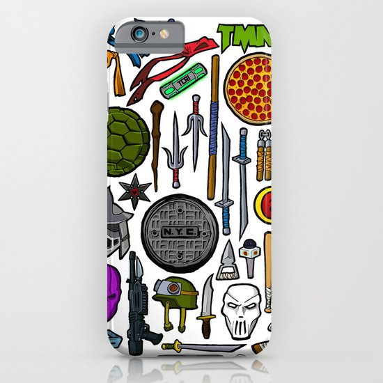 TMNT Weapons & Masks iPhone & iPod Case