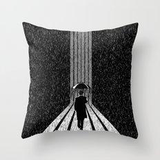 Winter's Long Road Throw Pillow