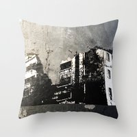 Sticker City Throw Pillow