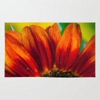 Red Sunflower Rug
