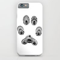 iPhone Cases featuring Cat Paw Print by LouJah