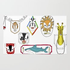 Animals head plaques Rug