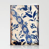 Blue Oriental Vintage Pa… Stationery Cards