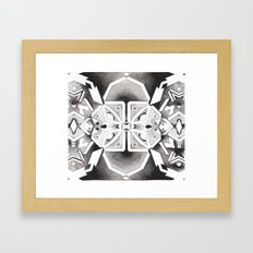 Star Chart Kaleidoscope Framed Art Print