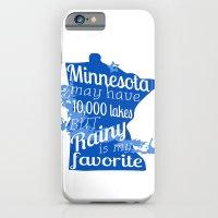 Rainy Lake Love iPhone 6 Slim Case