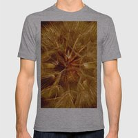 Dandelion Clock Mens Fitted Tee Athletic Grey SMALL