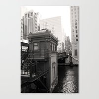 Black And White Chicago … Canvas Print