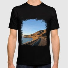 Road to Bariloche Mens Fitted Tee SMALL Black