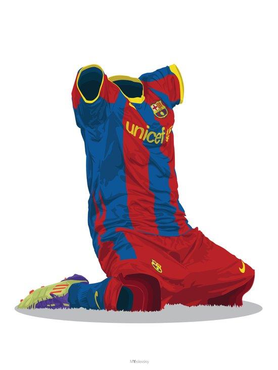 FC Barcelona 2010/11 - Champions League Winners Art Print