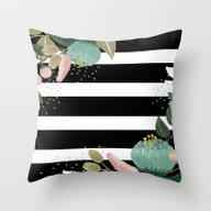 Fancy Lines Throw Pillow
