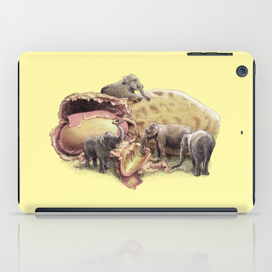 Elephant's Paradise (colour option) iPad Case