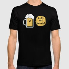 Drinking Buddy Black Mens Fitted Tee SMALL