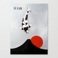 Mt Fuji Sunset Utsuri Mono Canvas Print