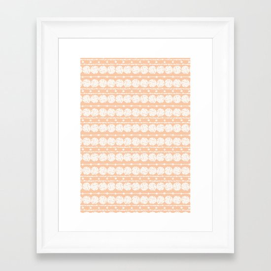 perfect peach Framed Art Print