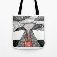 robot volcano Tote Bag
