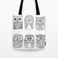 Six Pack (owl Collective… Tote Bag
