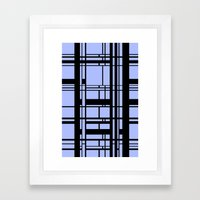 Grid Pattern 2 Framed Art Print