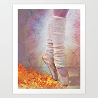 Ballet Shoes & Flames Of… Art Print