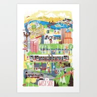 Portland West Side Art Print