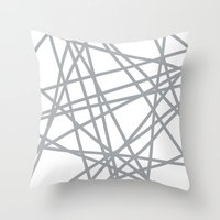 To The Edge Grey Throw Pillow