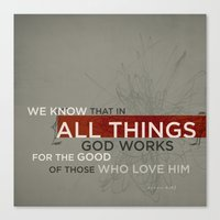 Romans 8:28 Canvas Print