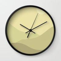 Minimal Meadow Day Wall Clock